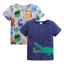 Baby Clothing Children Boys Girls T-shirts Monster 95%Cotton Short Sleeve Print Crocodile T Shirt for Boy Tops Tees Kids Clothes t shirts frutto rosso for girls and boys sm117k021 top kids t shirt baby clothing tops children clothes