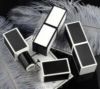 20pcs 40pcs 12 1mm Square Empty Cosmetic Lip Rouge Container DIY Plastic Lipstick Tube White Black