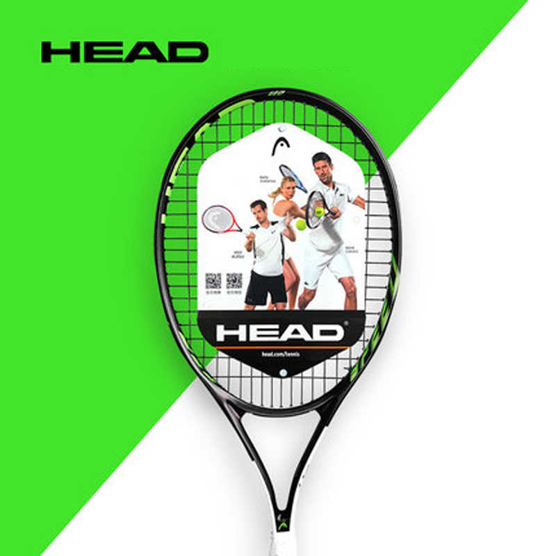 Original HEAD Tennis Racket Carbon Tennis Racquet With Bag Overgrip String Tenis Raquete HEAD Raqueta Tenis Paddle Grip Size 414