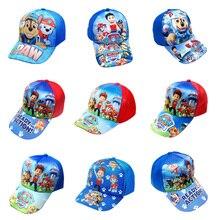 Натуральная лапа патруль хлопок милые детские летние шапки головные уборы с принтом на тему собак вечерние дети подарок на день рождения игрушка