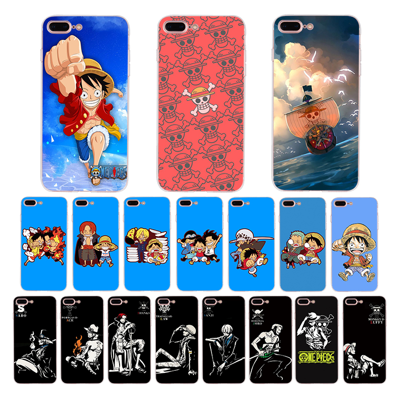 One Piece cute cartoon soft phone case for <font><b>iphone</b></font> x xs max xr 5s <font><b>6s</b></font> 7 8 6 plus se 5 TPU cover Monkey <font><b>D</b></font> lUFFY shell Funda <font><b>Coque</b></font> image