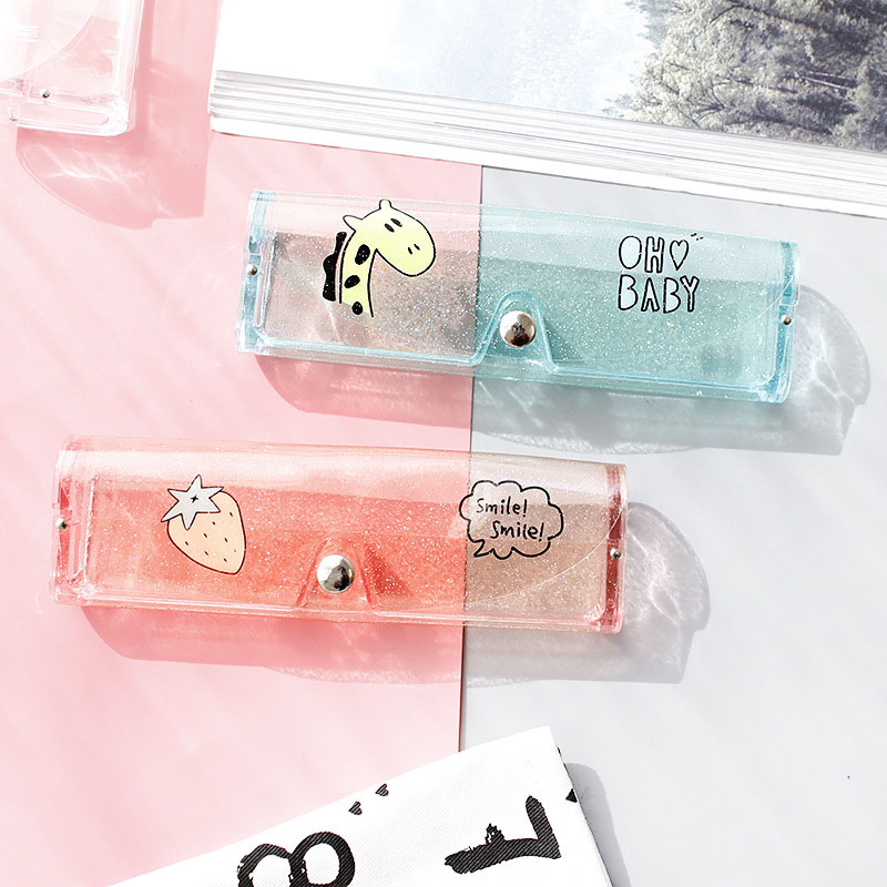 1pc Cute Portable Glasses Case Creative Transparent Glasses Storage Protection Box Sunglasses Box Fashion Eyewear Accessories