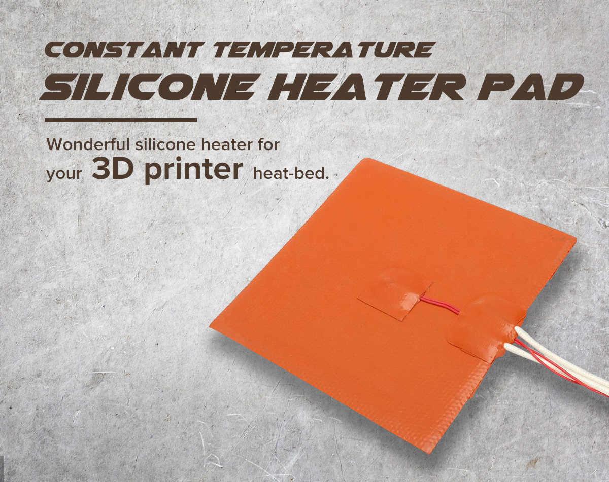 1400 Вт 240 в 400x400 мм Силиконовый обогреватель кровать грелка для 3d принтера без отверстия офисная электронная 3D печать аксессуары Запчасти