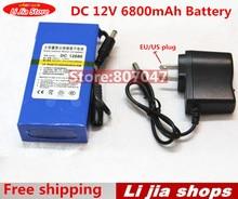 Alta Calidad de LA UE/EE.UU. Plug DC 12 V 6800 mAH Li-ion Batería Recargable Power Bank de Carga Para GPS Cámara de Vídeo del coche