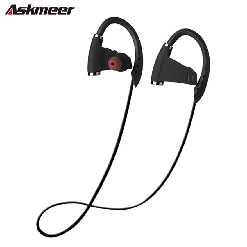 Askmeer U9 гарнитура bluetooth стерео наушники Водонепроницаемый Спорт Бег CSR Беспроводной Наушники наушники с микрофоном для Xiaomi iphone