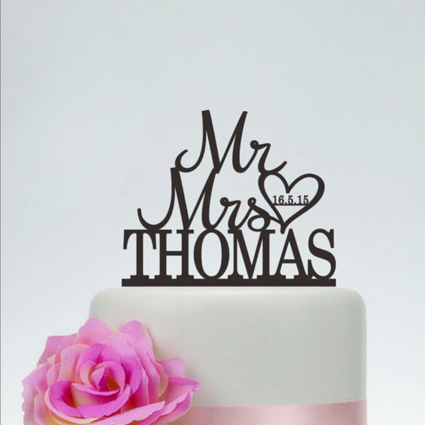 Mr And Mrs Cake Topper With Last Name,Wedding Wedding Gold Cake Topper,Custom Cake Topper,Engagement Topper,Heart Cake Topper