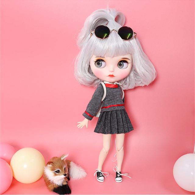 Kerena - Premium Custom Blythe lutka s punom opremom Pouty Face