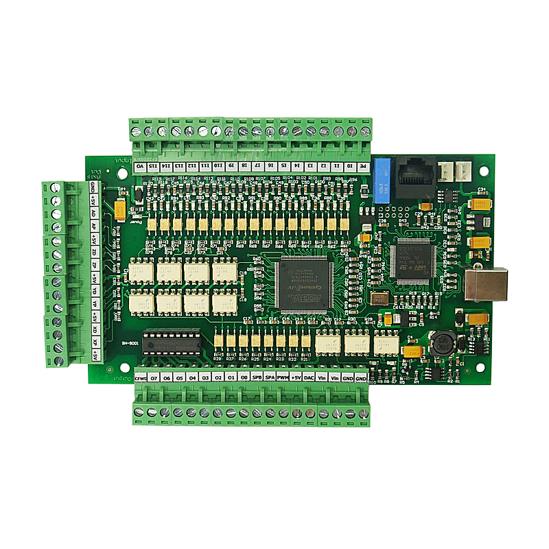 Nouveau contrôleur de CNC carte pilote CNC MACH3 USB carte de mouvement 3 axes 4 axes