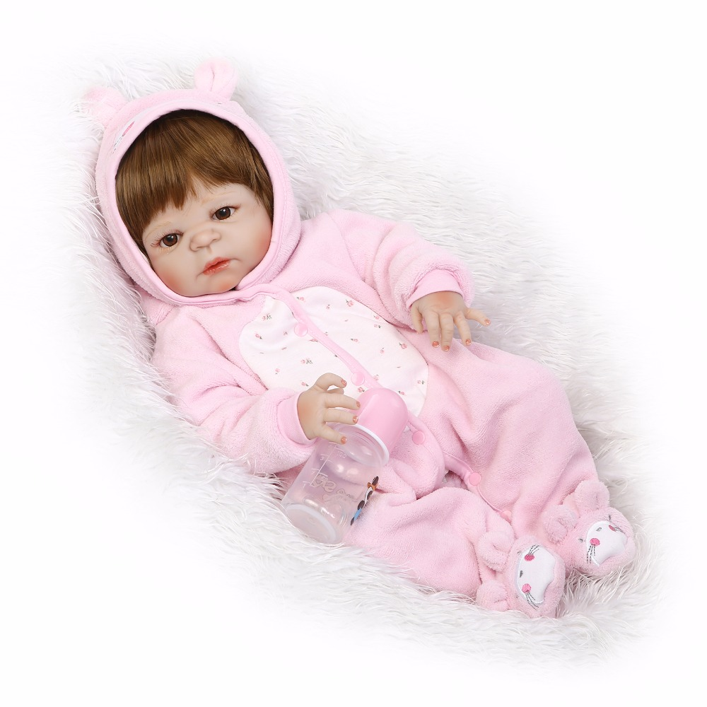 37e7899eb 55cm Full Silicone Body Reborn Baby Like Real Doll Toys 22inch Newborn  Princess Toddler Girl Babies Doll Birthday Gift Bathe Toy - aliexpress.com  - imall. ...