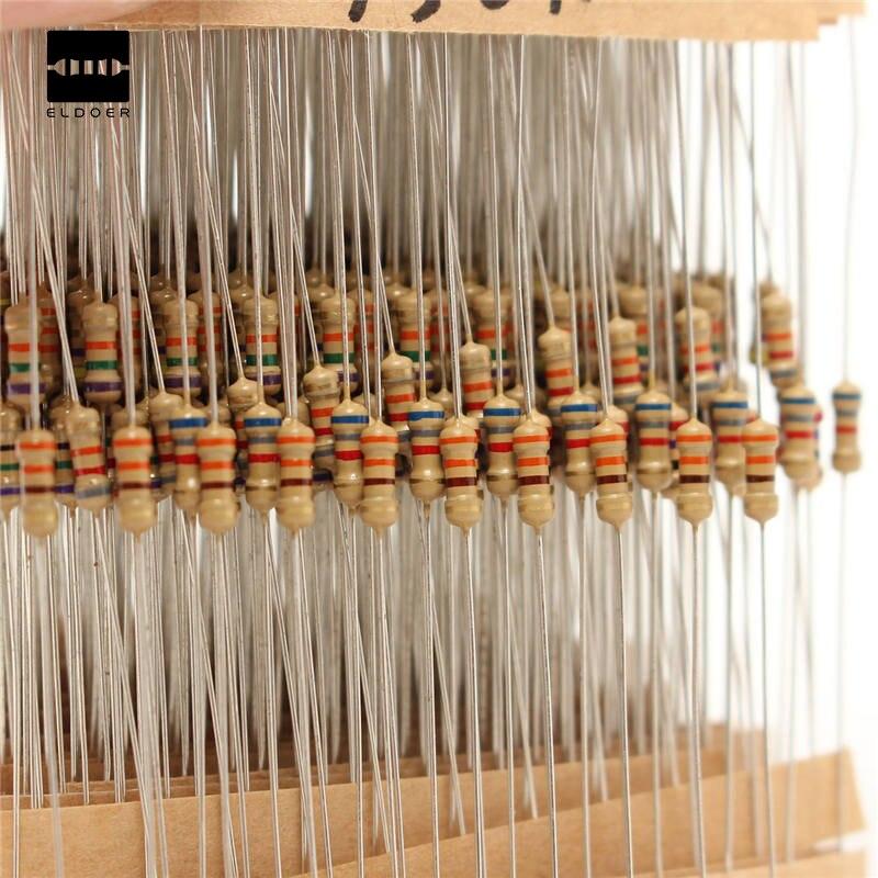Hot Sale 560pcs 56 Values 1% Tolerance Metal Film Resistors Assorted Kit 1/4W  Power Resistor Set 1 Ohm ~ 10M Ohm Resistance
