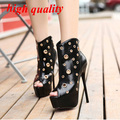 open toe women high heels sandals platform pumps party shoes for women pumps shoes gladiator sandals women summer boots Y772