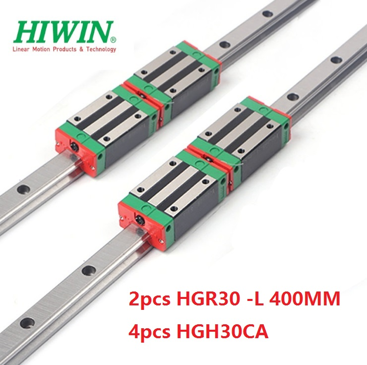 2pcs 100% original Hiwin linear guide rail HGR30 -L 400mm + 4pcs HGH30CA linear narrow block for cnc router2pcs 100% original Hiwin linear guide rail HGR30 -L 400mm + 4pcs HGH30CA linear narrow block for cnc router