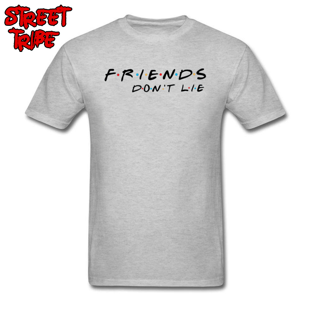 T-shirt Friends Don't Lie Men T Shirt Stranger Things Quote Tshirt Horror TV Strange Thing Song Clothes Cotton Grey Tops & Tee image
