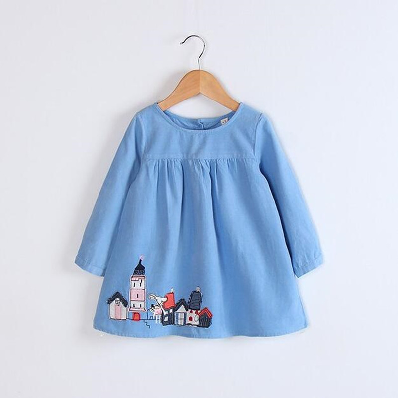 2017 Children Europe Style Corduroy Girls Autumn Dresses Brand Quality Korean Kids Clothes Toddler Girl Dresses