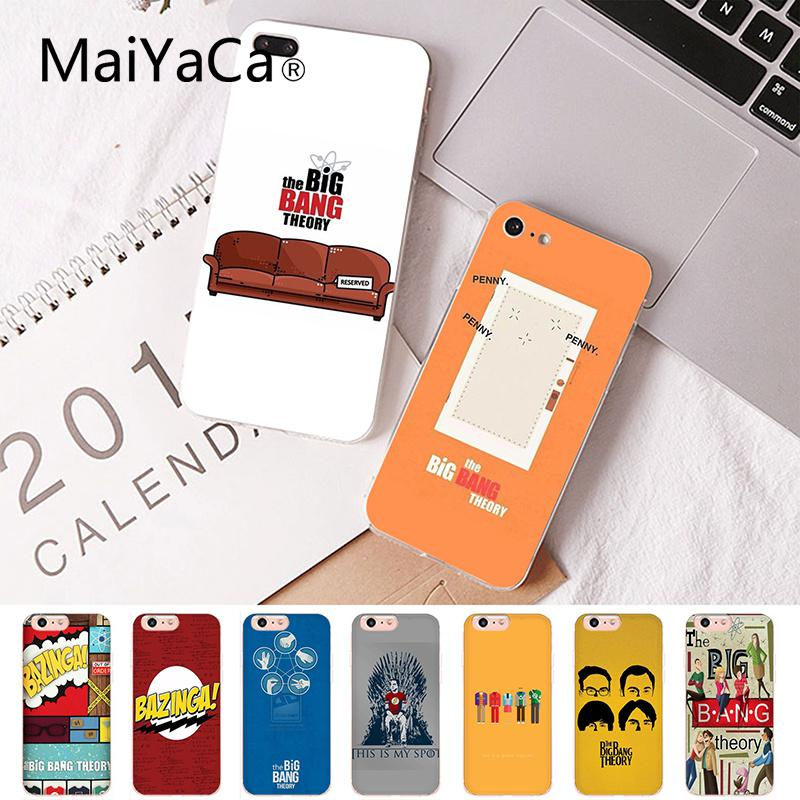 Maiyaca The Big Bang Theory Coque Shell Phone Case For IPhone 8 7 6 6S Plus X XS MAX