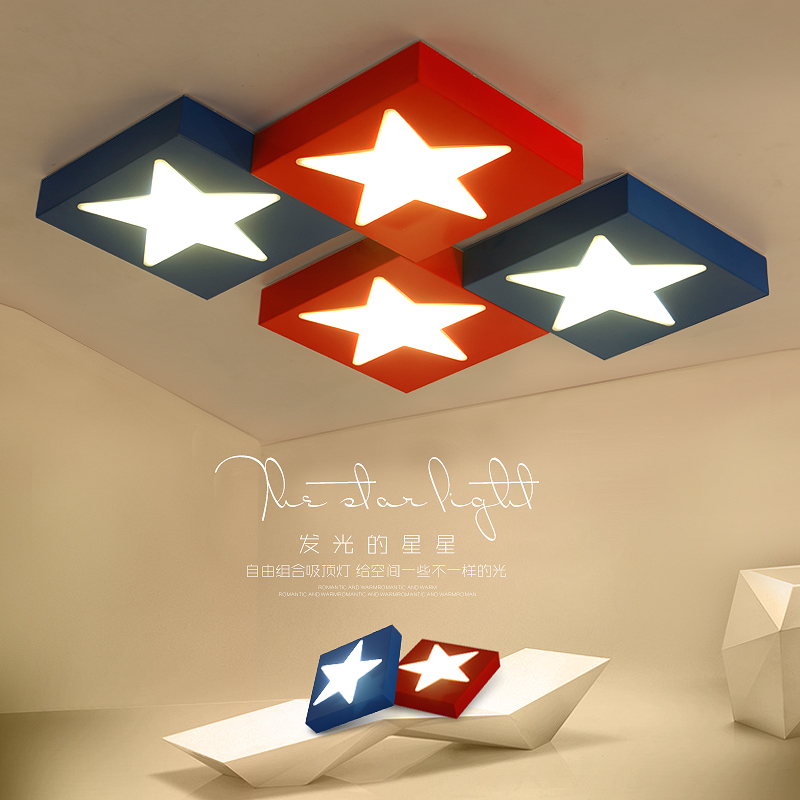 America Hero Cartoon Ceiling Lights Creative Girl Boy Kids Baby Children Living Room Bedroom Absorb Home Indoor Lighting Decor children lamp creative led ceiling lights remote control dimmer color cartoon absorb living room restaurant superior hotel et36
