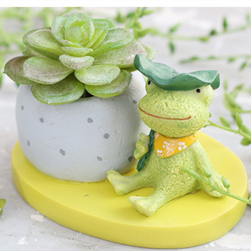 Image 5 - Hot Cute Succulent Plants Flesh Resin Flower Pot Round Small Mini Home / Garden Desk Plant Pot Flower Planter Decoration-in Flower Pots & Planters from Home & Garden