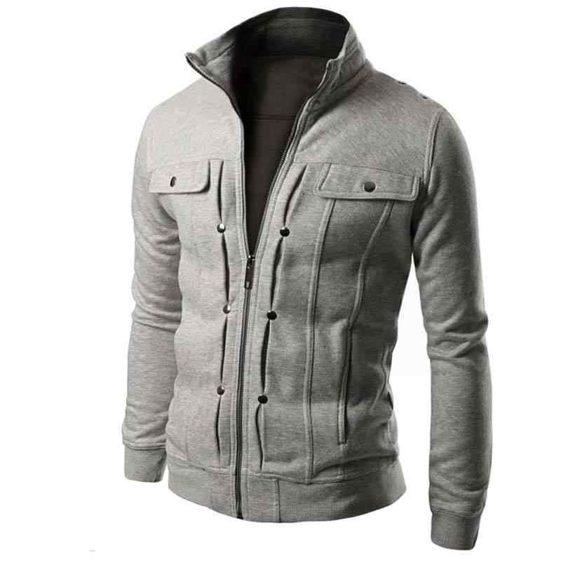 MRMT 2019 חדש לגמרי גברים של צווארון עומד חולצות גוף תיקון קרדיגן עבור זכר צמר נוטה כיס מעיל סווטשירט