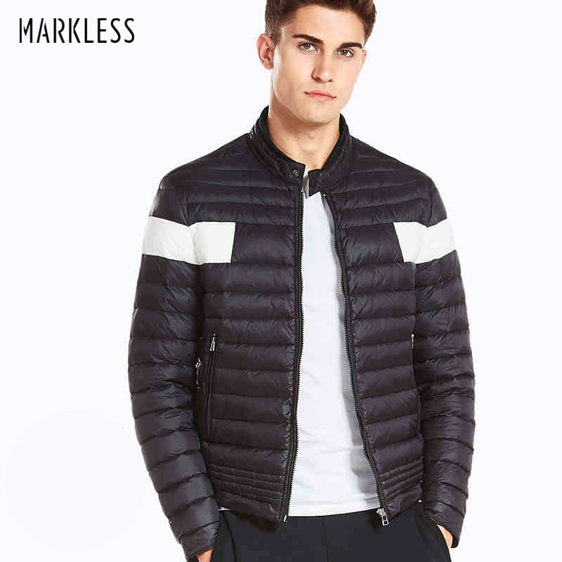 Markless 2018 Winter Light Jacket Down Men's Brand Clothing Casual White Duck Down Coats Male Fashion Winter Jackets