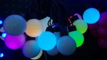 Colorful led ball costumes lighting string 10 meters 100 lamp waterproof lighting string sphere lamp