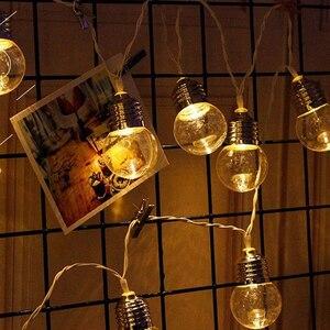 Image 3 - LED dış mekan güneş lambası 9M 50 LED temizle küre ampuller güneş Led dize peri işık açık güneş küre veranda parti cadılar bayramı dekorasyon
