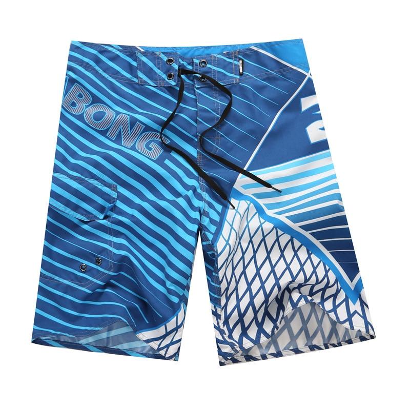 High Quality Mens Quick Dry Beach   Shorts   Surf   Board     Shorts   Summer Sport Beach Homme Bermuda   Short   Pants Print Boardshorts Silver