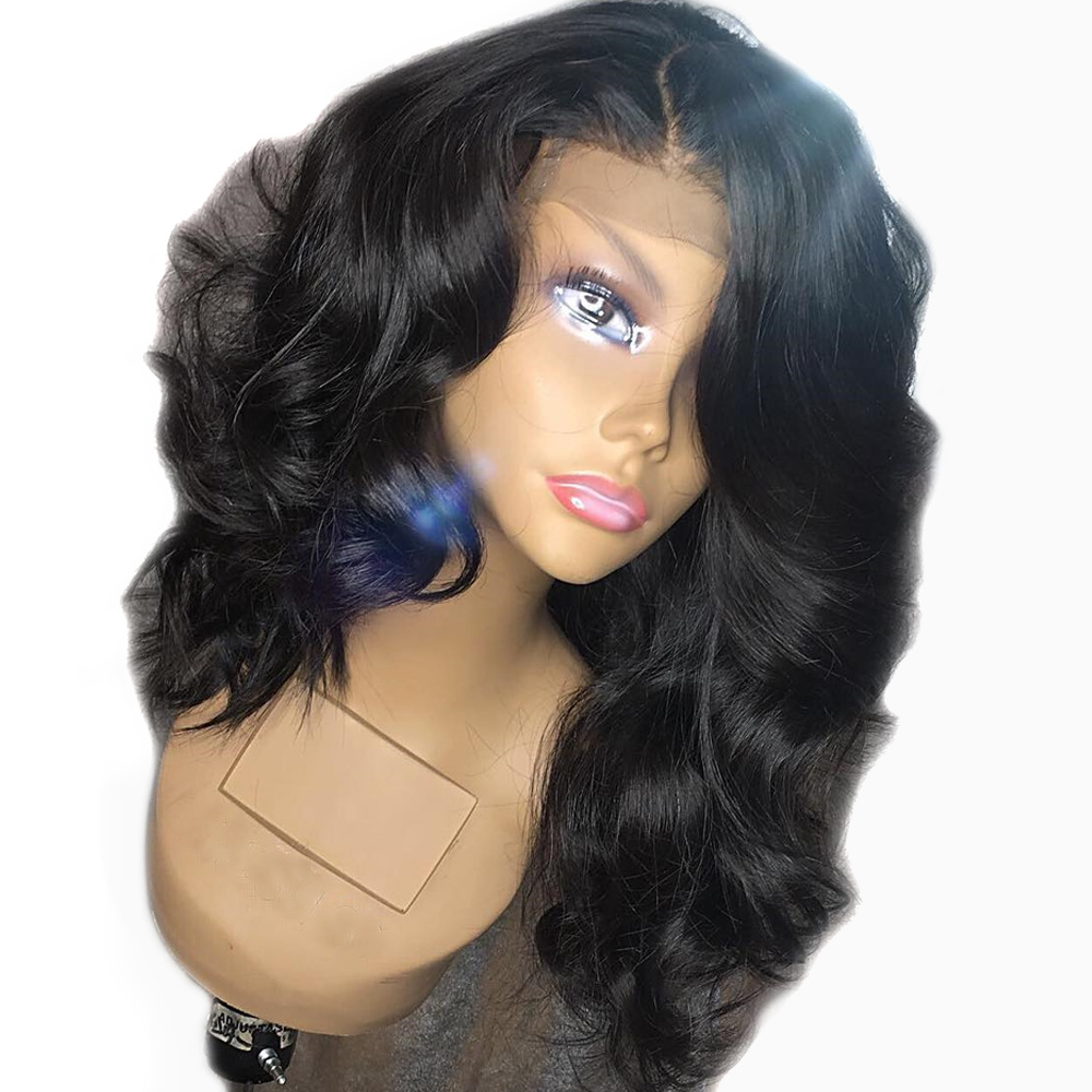PrePlucked 250 Density 13x6 Deep Part Loose Body Wave Lace Front Human Hair Wigs with Baby
