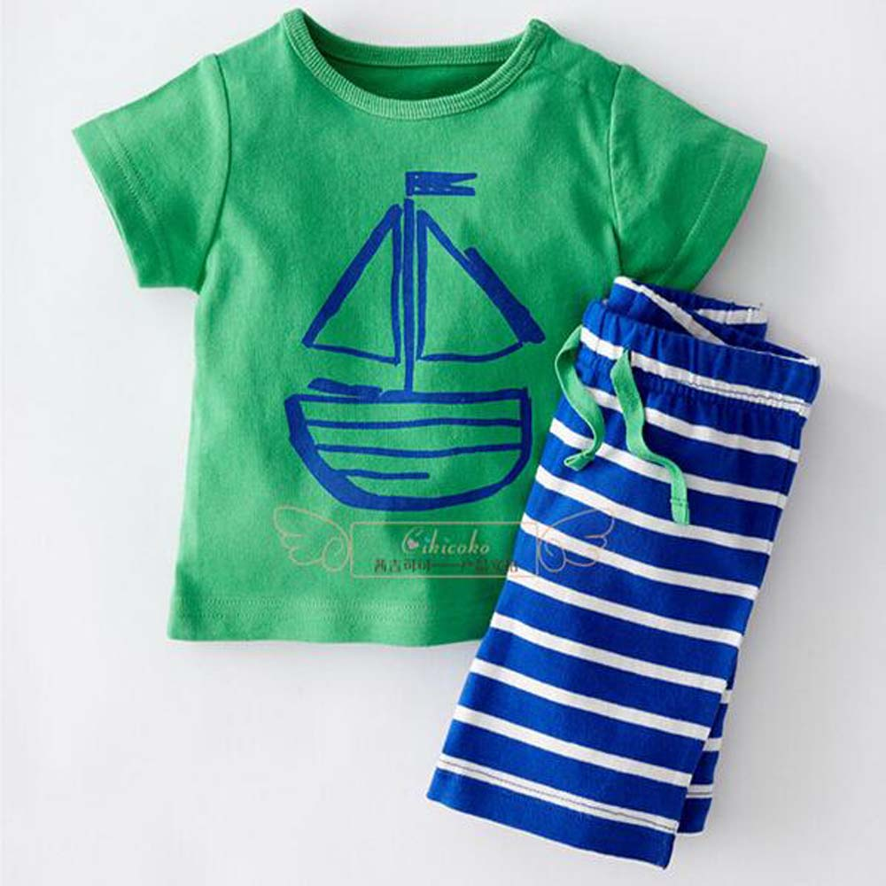 Free ship  boys summer cartoon clothing sets kids boy clothes set apparel t-shirt + stripe shorts 2pcs YAZ052F dragon night fury toothless 4 10y children kids boys summer clothes sets boys t shirt shorts sport suit baby boy clothing
