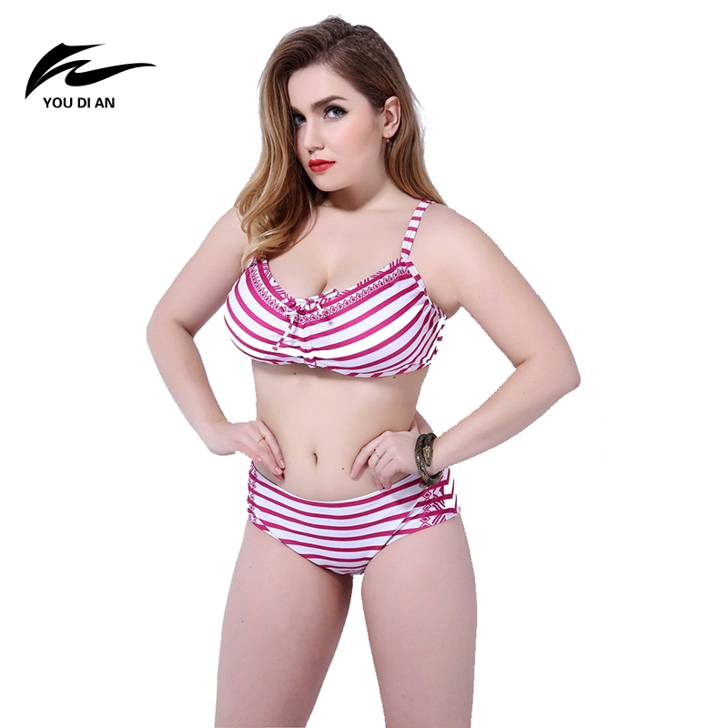 2017 Sexy Bikini Sets Womens Plus Size Swimsuit High Waist Chest Gather Two-piece Suits Swimwear for Womens Summer Swimming Wear female swimsuits newest sexy diamond swimdresses swimsuit for girls bikini black two piece summer dress high waist 359 183 093