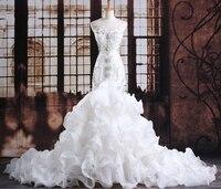 2019 Luxurious Crystals Mermaid Wedding Gowns Expensive Princess Bridal Dresses robe de mariee vestido de noiva curto Customize