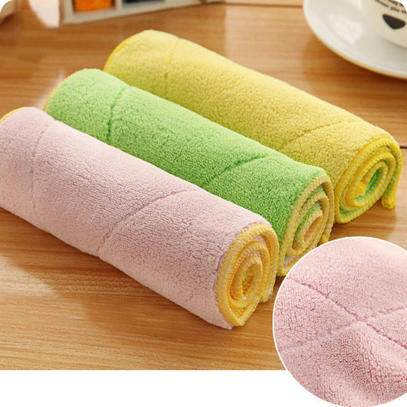 Double Face Technology Towel: Cleaning Cloth Double Sided Microfiber Dish Towels