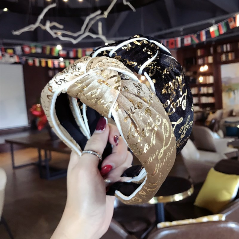 Girl's Accessories Girl's Hair Accessories Korea Velvet Tie Knot Hairbands Gold Letter Hairband Crown Headbands For Girls Hair Bows Hair Accessories Vivid And Great In Style