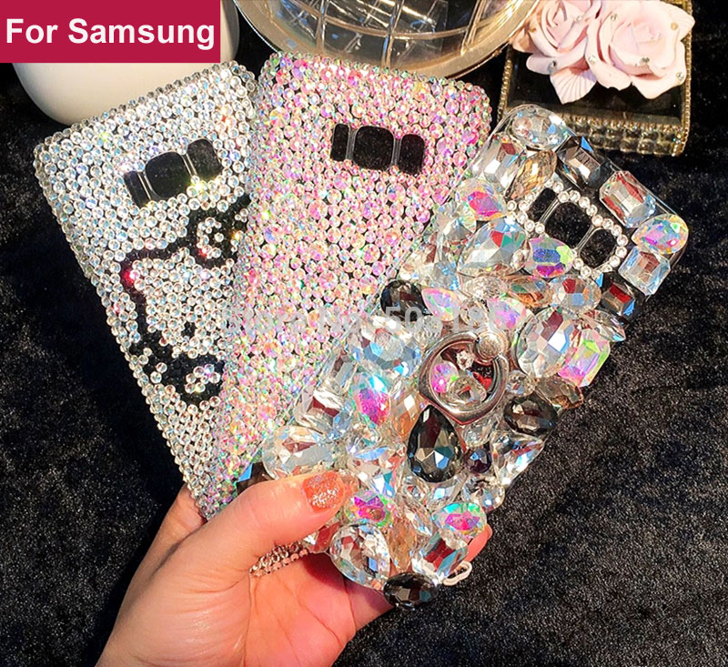 Rhinestone case Diamond cover For Samsung Galaxy J2 J3 J4 J5 J6 J7 J8 2015 2016 2017 2018 Prime 2 Plus Duo Max