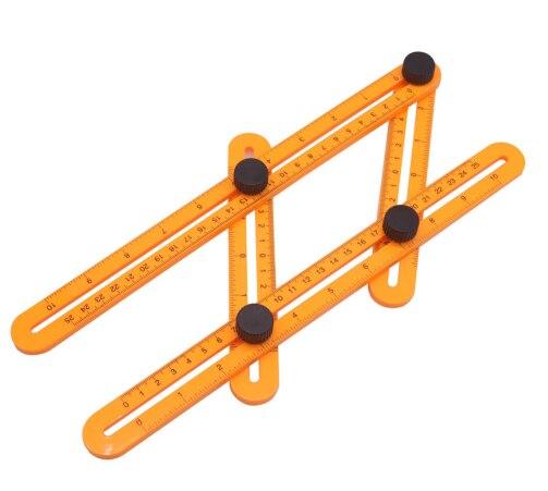 CO-50 colores instrumento de medición ángulo-izer herramienta de plantilla regla de cuatro lados mecanismo regla