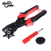 Super PDR 6 Sized 9 Heavy Duty Leather Hole Punch Hand Pliers Belt Holes Punches