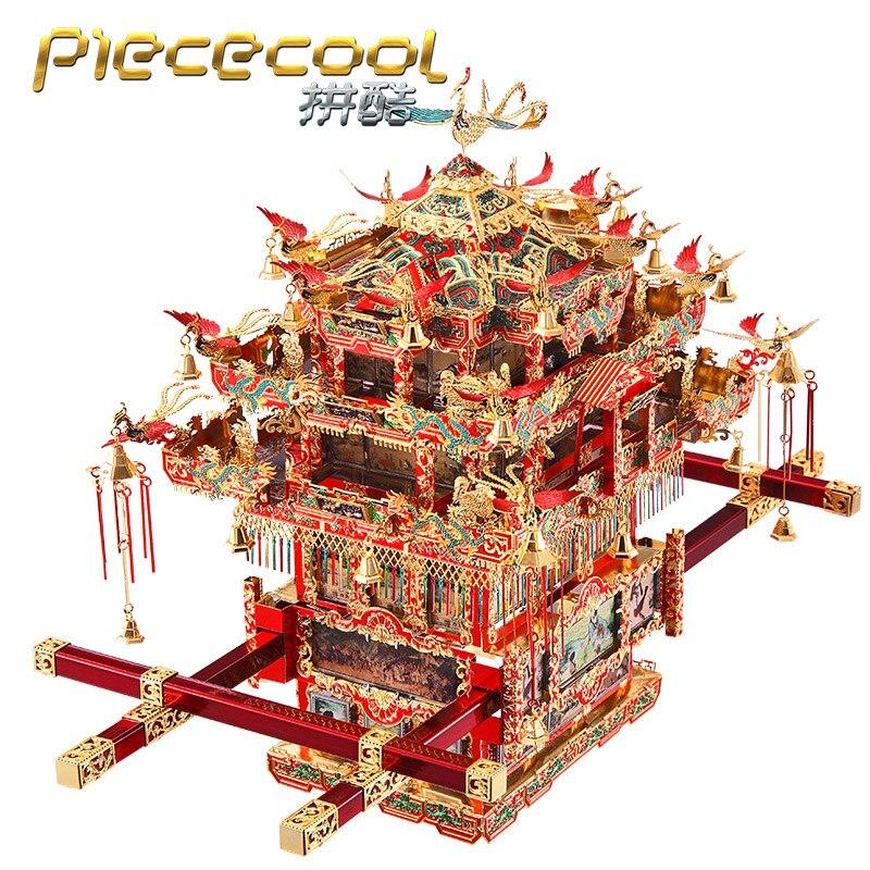 2018 Piececool 3D Métal Puzzle modèle De Mariée Berline Chaise modèle DIY Laser De Coupe Puzzles Jigsaw Modèle Jouets cadeau Pour Les Enfants