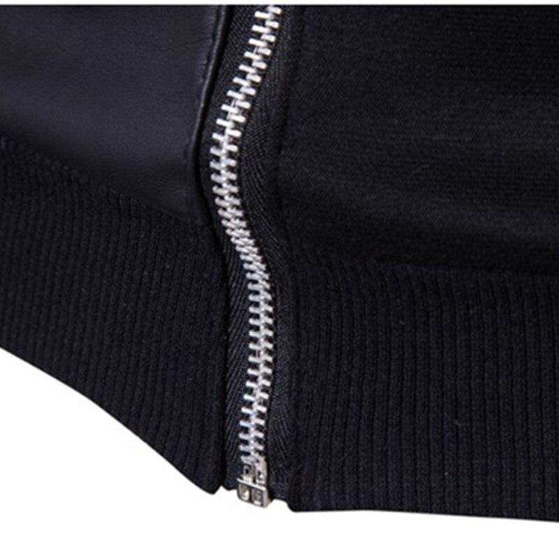2019 модные толстовки с капюшоном Для мужчин Толстовка Топ пуловер Блузка Hombre хип хоп Для мужчин s Черный Толстовка с капюшоном на молнии Slim Fit Мужская толстовка - 6