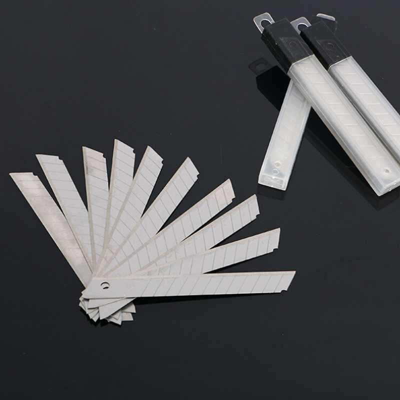 Sincere Wholesale 10/box X9mm Stainless Steel Snap Off Letter Cutter Opener Plastic Replacem Utility Knife Blades Supplement The Vital Energy And Nourish Yin Office & School Supplies