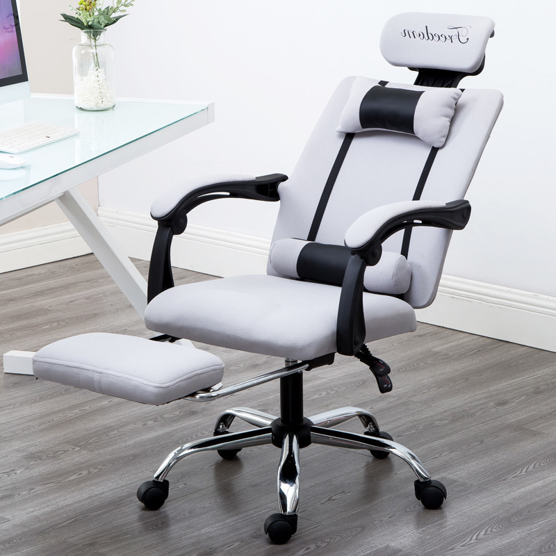 Leisure European Time To In An Office Computer Household Modern Concise Cloth Study Fold Dawdler Student Do Work Chair(China)