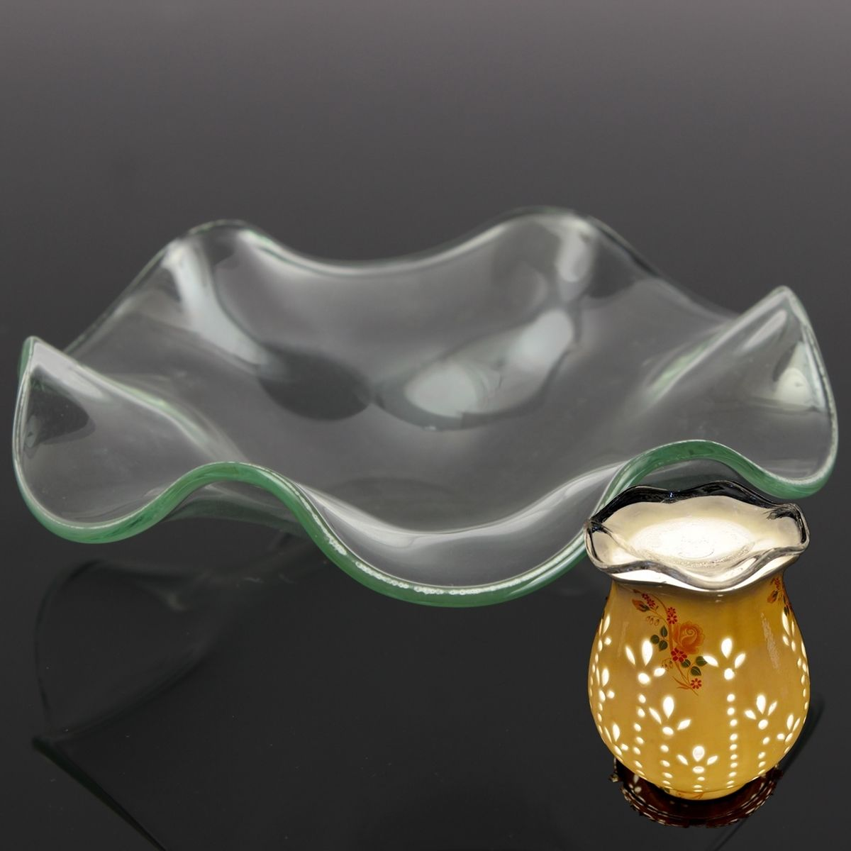 Lotus Shaped Electric Aroma Fragrance Dish Diffuser Lamp Oil Tart ... for Electric Fragrance Diffuser Lamp  104xkb