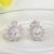 Luoteemi lujo champagne oro de color oval cubic zirconia stud pendientes para las mujeres joyería del banquete de boda