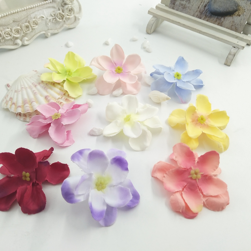10pcs Hydrangea flower 2 layer small silk DIY shoes wreath decoration 5CM