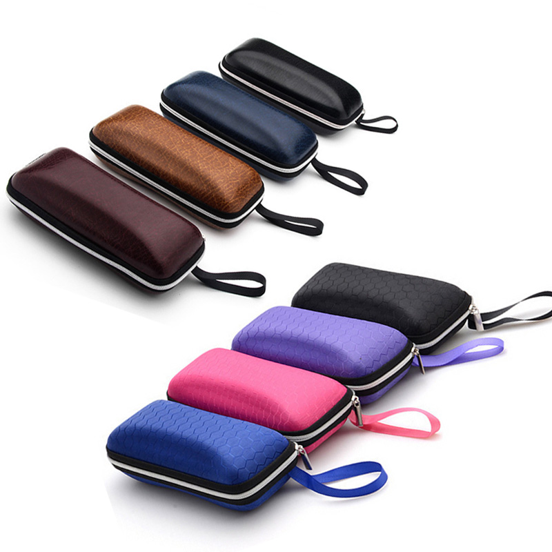 60a857fd5763 2016 New Hot Selling PU fiber zipper sunglasses case box eyeglasses box  eyewear accessories colorful glasses bag