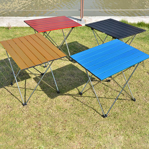 Image 3 - ALWAYSME 57x40x41CM Colorful Aluminium Alloy Outdoor Folding Table Hiking Camping Table Waterproof Folding Table Desk For Picnic
