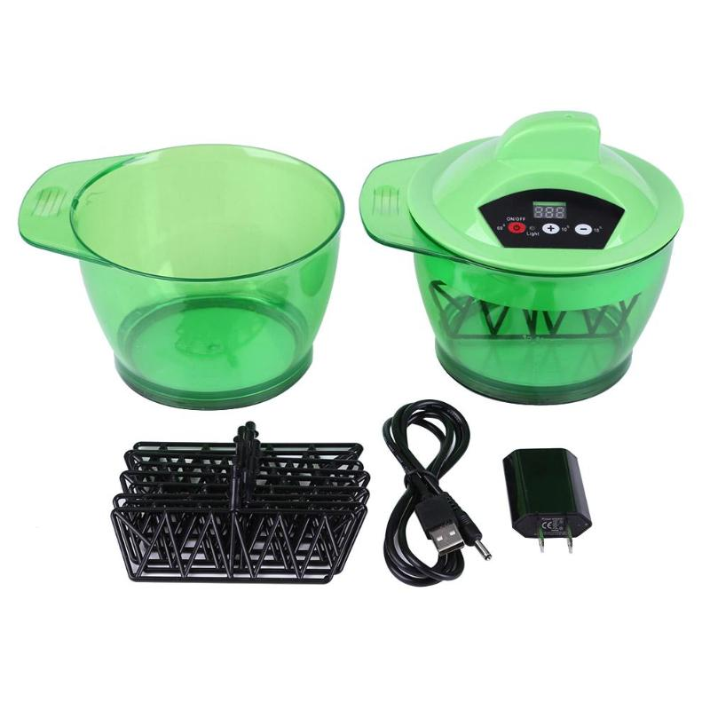 320mL Electric Hair Coloring Mixing Bowl Timing Automatic Hair Dyeing Cream Mixer Blender Hair Styling Tools US Plug