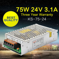 AC DC 220V 110V to 24V 75W Transformer Regulated Switching Power Supply Adapter for LED Strip Light Repeater Webcam Videcam
