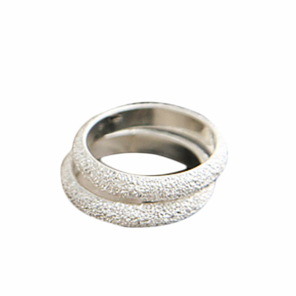 simple romantic  design  Fashion Simple Frosted Ring 8RD150