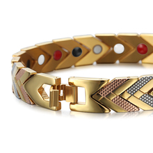 Magnetic Hologram Bracelets Bangle for Women 4 in 1 Health Care Bio Energy Germanium Healing Female Jewelry for Arthritis