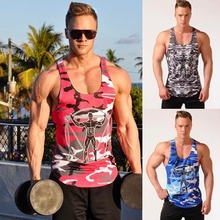 ZOGAA Fitness Men Tank Top Army Camo Camouflage Mens Bodybuilding Stringers Tops Singlet Brand Clothing Sleeveless Shirt