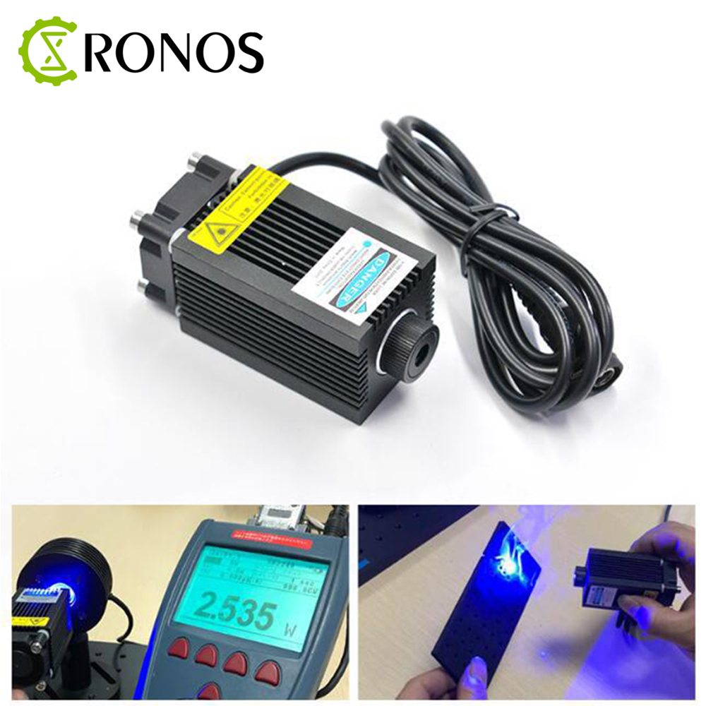 2500mW 450nm Blue Light Laser Module Diode For Laser Tube Engraving Machine High power 2.5W Can Focusable